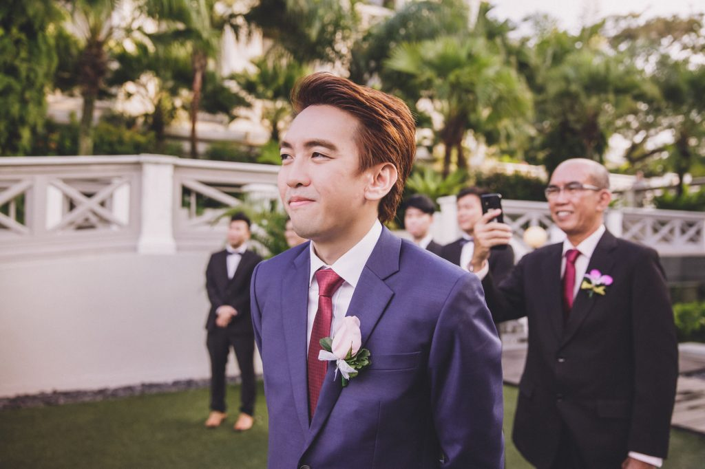 singapore wedding photographer videographer chinese groom bride fort canning hotel solemnisation ceremony expression bridal march in