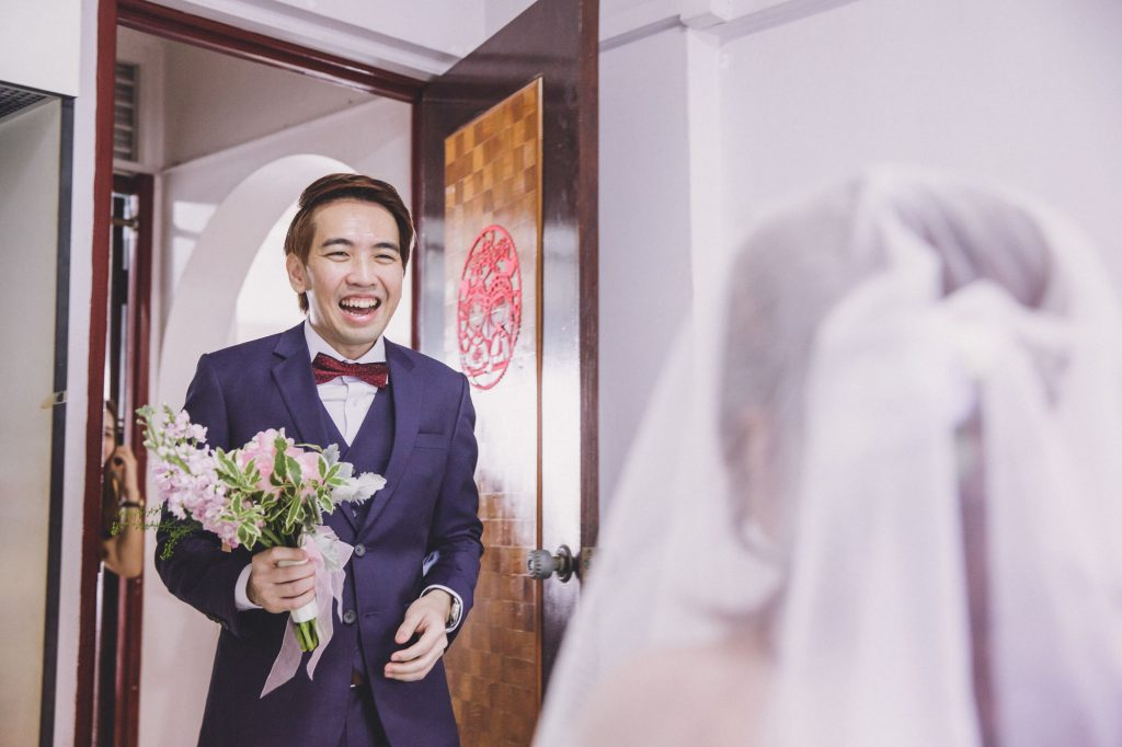 singapore wedding photographer videographer chinese groom gatecrash