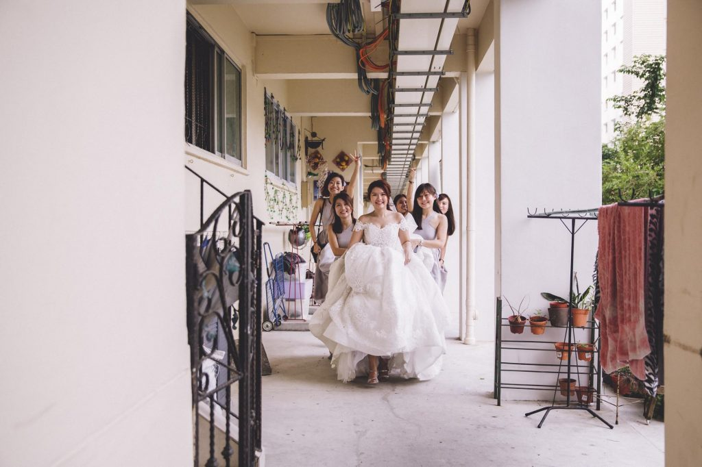singapore wedding photographer videographer chinese groom bride bridesmaid entourage bridal party