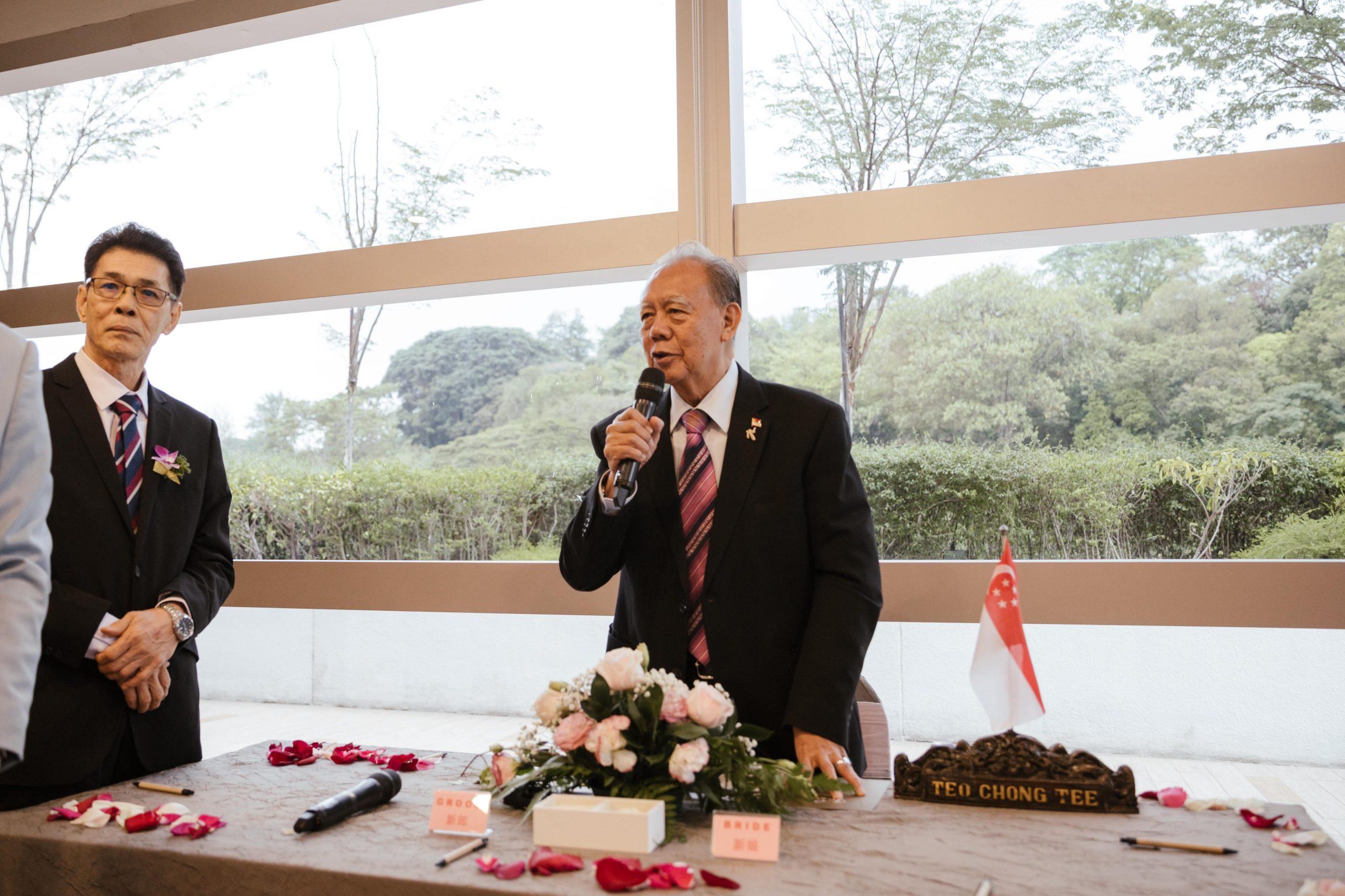 Solemnisation Ceremony Wedding Singapore Solemniser Teo Cheong Tee